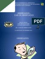 Presentacion de Fase de Observacion.