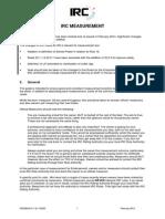 IRC Measuring Manual 2014