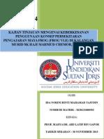 Kajian Tinjauan Mengenai Keberkesanan Penggunaan Konsep Persekitaran Pengajaran Maya Frog (Frog Vle) Di Kalangan Murid Sk Haji Mahmud Chemor, Perak.