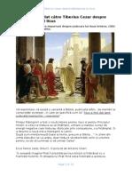 Raportul Lui Pilat Catre Tiberius Cezar Despre Rastignirea Lui Iisus