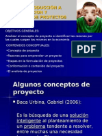 Tema 1 - Introducción a La Formulacion y Evaluación de Proyectos
