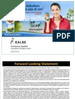 Company Update Q1-2013