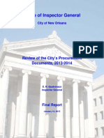 Review of the City's Procurement Documents, 2013-2014