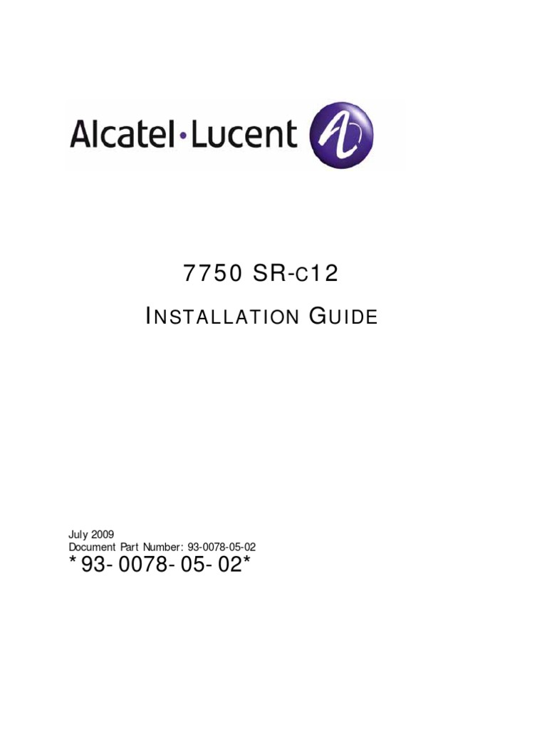 7750 SR-c12 Installation Guide | Multiprotocol Label