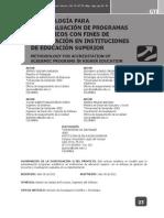UDES - Metodologia Para Autoevaluacion Programas Academicos Para Acreditacion en IES