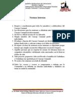 Normas Internas Consejo Comunal Lorenzo Rojas
