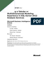 SQL2012AS Multidimensional Modeling or Tabular Model.docx