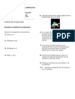 Examen de Recuperacion 4p Grado Noveno