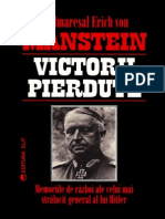 Erich Von Manstein Victorii Pierdute