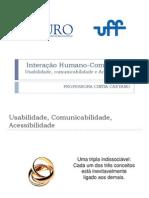 IHC Aula 6 Usabilidade Comunicabilidade Acessibilidade