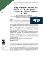 Consumer Attitude 4 Green Practices