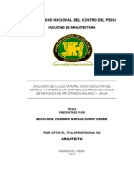 INCLUSION DE LA LUZ NATURAL COMO ESCULTOR DE ESPACIO Y FORMA EN LA COMPOSICION ARQUITECTONICA DE REFUGIOS DE ARTISTAS EN MOLINOS - JAUJA.pdf.doc