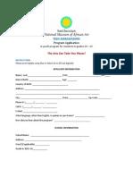 TeenAmb Application Summer 2015