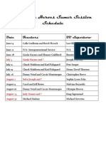 UU Super Heroes Summer 2015 Session Schedule