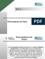 Unidad 2- Procesadores de Texto
