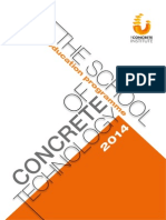 The Concrete Institute-Education Programme 2014