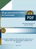 Riesgo Operacional y Planes de Continuidad