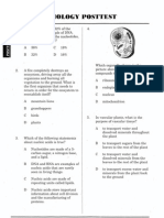 biology posttest