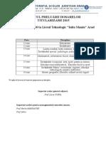 Grafic Preluare Dosare Titularizare