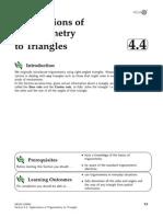 4 4 Applications Trigonometry to Triangles