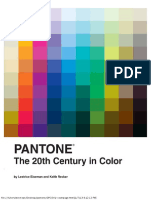 pantone book | Arts And Crafts Movement | Paintings