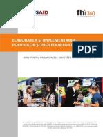 Elaborarea Si Implementarea Politicilor Si Procedurilor Interne- Ghid Pentru Organizatiile Societatii Civile Din Moldova
