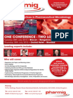 Pharmig India - Best Practices in Pharmaceutical Microbiology - 28th and 30th July INDIA
