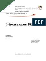 Interacciones biotica