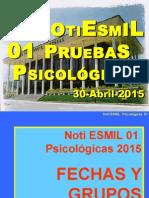 RECOMENDACIONES PSICOLOGIA