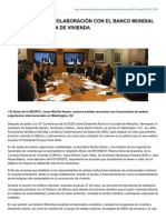 26-05-15 MÉXICO ACUERDA COLABORACIÓN CON EL BANCO MUNDIAL Y EL BID EN MATERIA DE VIVIENDA