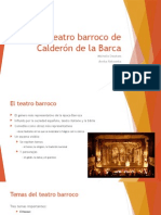 El teatro barroco de Calderón de la Barca