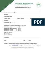 GSR Indmeldelsesblanket 2010