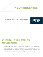 7 Cuentas contingentes