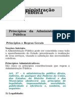 A Administração Pública - Direito Consttucional