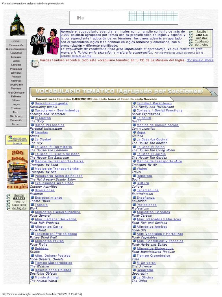 vocabulario tematico ingles pdf