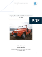 Historia de La Industria Automotriz Chilena