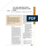 A Case Study Application of Linear Programming and Simulation to Mine Planning