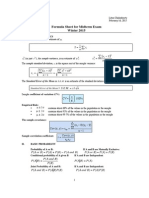 Formula Sheet Midterm ECON 221