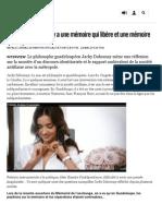 Jacky Dahomay_ «Il y a Une Mémoire Qui Libère Et Une Mémoire Qui Emprisonne» - Libération