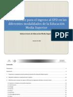 Perfiles Parametros e Indicadores Docentes EMS Enero 2014