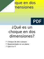 Choque en Dos Dimensiones (Física)