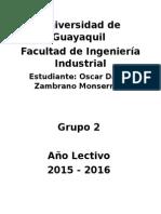 Universidad de Guayaquil - Trabajo No. 1