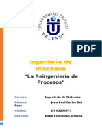 Reingeniería de Procesos (Trabajo Grupal)