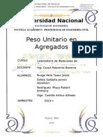 Informe de Peso Unitario de Agregados