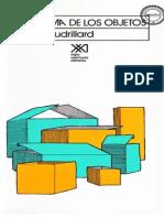 El sistema de los objetos - Jean Baudrillard.pdf