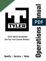 Ro Tap Manual Tamizador RX 29