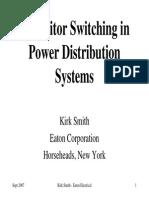 Capacitor bank Switching