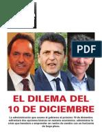 Argentina - El Dilema Del 10 de Diciembre de 2015 - CENE (UB)