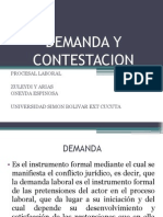 Demanda y Contestacion Laboral