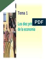 Los Diez Principio de Teoría Economica